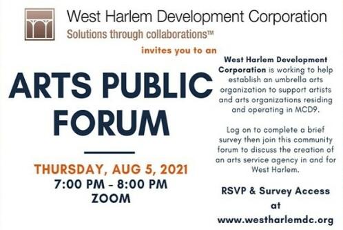Arts public forum flyer